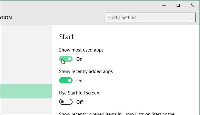 turning_off_show_most_used_apps
