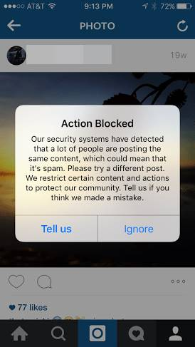 Instagram-Action-Blocked